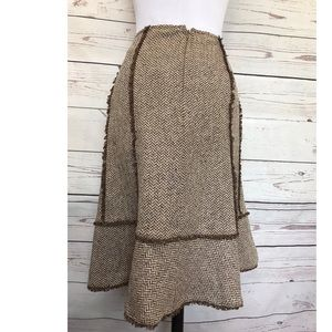 Loft women's skirt  fully  lined  Sz 6P brown.